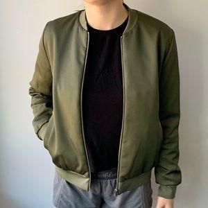 Everlane Green E2 Bomber Jacket - Women's Size M
